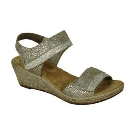 Mussurana Fango Metallic Strap Over Sandals 62470-64