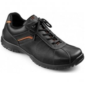 Mens Thor GTX Black Leather Waterproof Lace Up Shoes