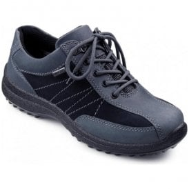Womens Mist GTX Navy Waterproof Lace Up Shoes