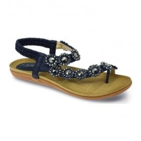 Womens Charlotte Navy Toe-loop Sandals JLH601 NY