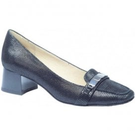 Womens Elodie Black Leather Slip On Court Shoes 9-9-24301-28 010