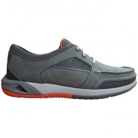 Mens Ormand Sail Dark Grey Nubuck Casual Trainer Shoes