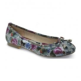 Womens Owen Pewter Floral Pump Shoes FLC040 PW