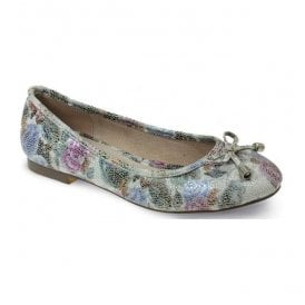 Womens Owen White Floral Pump Shoes FLC040 WT