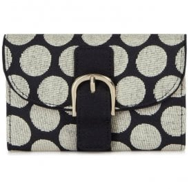 Womens Garda Black Spotted Purse 50085