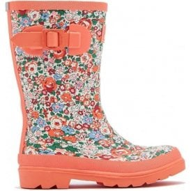 Girls Junior Ditsy Floral Print Welly