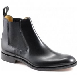 Mens Petworth Black Elastic Sided Dealer Boots