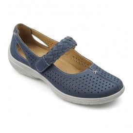 Womens Quake Blue River Nubuck Leather Mary Jane Shoes