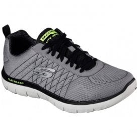 Mens Flex Advantage 2.0 The Haps Light Grey/Black Trainers 52185