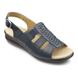 Womens Candice Blue River Leather Slingback Sandals