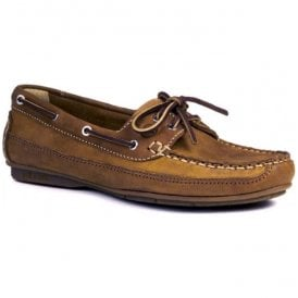 Womens Bahamas Sand Leather Deck Shoes
