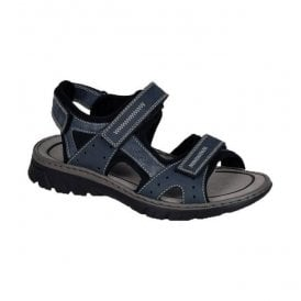 Mens Bastia Blue Strap Over Sandals 26757-15