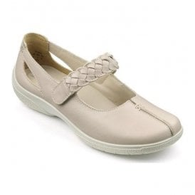 Womens Shake Beige Strap Over Leather Shoes