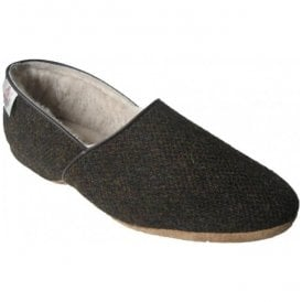 Mens Lewis Barlycorn Harris Tweed Luxury Slippers