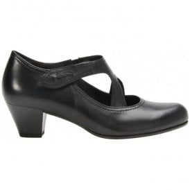 Womens Breda Black T-Bar Heeled Court Shoes 76.149.57