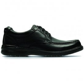 Mens Keeler Walk Black Leather Lace Up Shoes