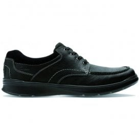 Mens Cotrell Edge Black Oily Leather Lace Up Shoes