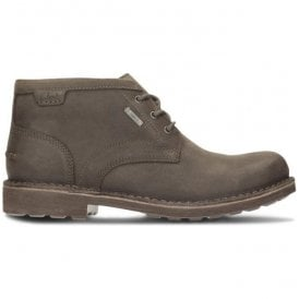 Mens Lawes Mid GTX Dark Brown Leather Waterproof Ankle Boots
