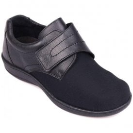 Womens Walford Black Strap Over Shoes