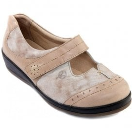 Womens Filton Beige/Mist Extra Wide Shoes