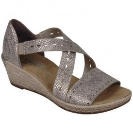 Mussurana Beige Cross Strap Sandals 62455-64