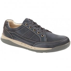 Mens Navy Waxy Nubuck Leisure Shoes M9559C