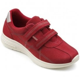 Womens Astrid Tango Red Suede Strap Over Shoes