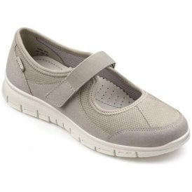 Womens Aura Stone Suede/Nubuck Trainer Shoes