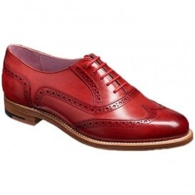 Womens Fearne Red Hand Painted Brogue Lace Up Shoes