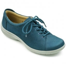 Womens Dew Extra Wide Cobalt Blue Nubuck Lace Up Shoes