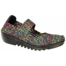 Womens May Multi Coloured Slip On Mary Jane Shoes A3781
