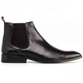 Mens Cheshire Waxy Black Chelsea Boots