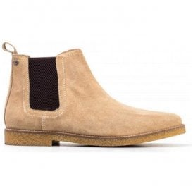 Mens Ferdinand Taupe Suede Chelsea Boots