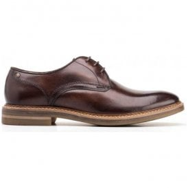 Mens Blake Washed Brown Derby Shoes