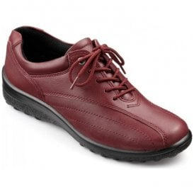 Womens Tone Extra Wide Ruby Leather Lace Shoes