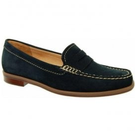 Womens Bexley Navy Suede Loafers V524