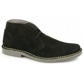 Mens Mod Black Suede Desert Boots M420AS
