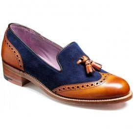 Womens Amber Cedar/Blue Tasselled Loafer Shoes