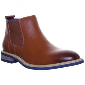 Mens Ethan Tan Leather Chelsea Boots