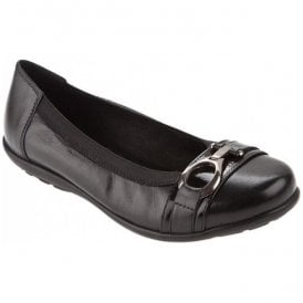 Womens Davina Black/Black Patent Shoes