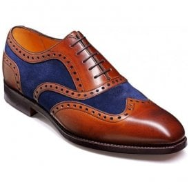 Mens Cambridge Brown/Navy Lace-Up Shoes