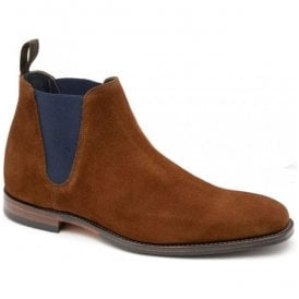 Mens Caine Brown Suede Chelsea Boots