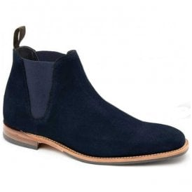 Mens Caine Navy Suede Chelsea Boots