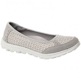 Womens Grey Slip On Leisure Casual Shoes L9548F