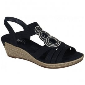 Wildebuk Black Elastic Sandals 62459-00