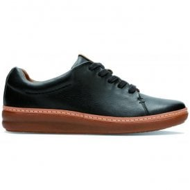 Womens Amberlee Crest Black Leather Lace Up Shoes
