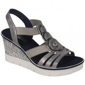 Space Grey Sling Back Sandals 68550-40
