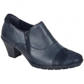 Womens Agadez Blue Leather Shoe Boots 57173-14