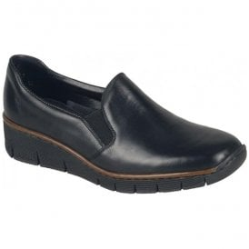 Cristallin Black Slip On Casual Shoes 53766-00