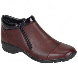 Bogota Burgundy Zip Ankle Boots 58374-35